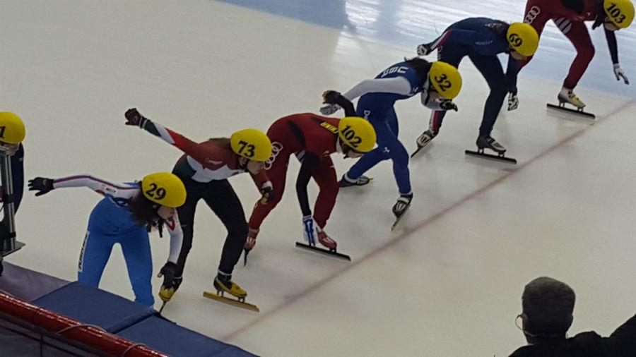 Alica Porubská v I. kole Svetového pohára v Short Tracku v Montreale.